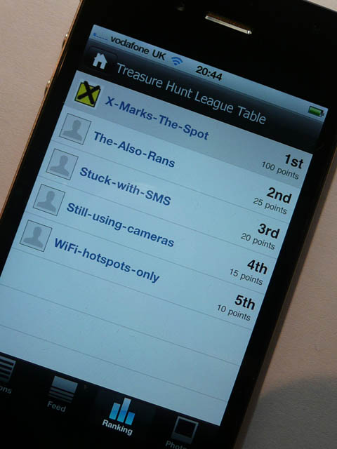 Smartphone treasure hunt challenge from X Marks The Spot